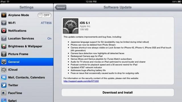 iOS 5.1 updates